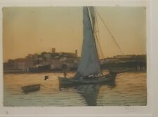 Fred Leve (1877-1968) Aquatint (etching) 2nd of a pair in identical frames