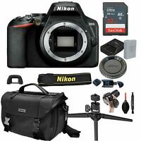 Nikon D3500 Digital SLR DSLR Camera Body Black + 13pc Bundle