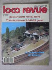 LOCO REVUE n° 495/juil août 87 petit réseau Nord.La 040 TA Jouef en HO.