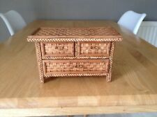 Vintage Miniture Rattan Chest of Drawers