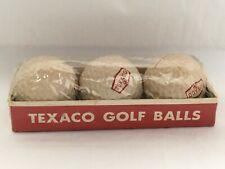 New listing Texaco Logo 3 Golf Balls Sleeve Cadwell Cover 1 Vintage Uniroyal New Sealed NOS