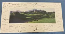 Original 1998 Golf Picture Signed by 78 Players Nicklaus Palmer Trevino Etc