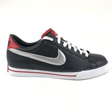 Nike Sweet Classic Leather Low Mens Black Silver Shoes Size 9.5 Retro 318333-009