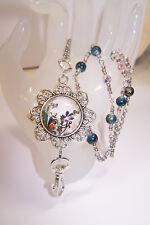 Colorful Paisley Swirl Flower Beaded Lanyard Necklace / ID Badge Cruise Card