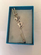 "Ska Man 2 Tone Style PP- Pewter Emblem Kilt Pin Scarf or Brooch 3"" 7.5 cm"