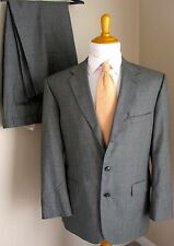 Stafford Suit 44R Wool Gray 2/3 Roll Pants 38 x 28 3 Button 2 Roll Made USA Mens