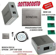 BDM100 PROGRAMMATORE BANCO CENTRALINE RIMAPPATURA BDM EDC16 FAP DPF EGR /OMAGGI