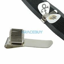 Guitar Pick Holder Clip Metal Pick Holder Clip on Straps for Guitar Bass Straps