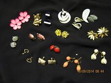antique,Sara coventree jewlery.and screw on earings,clip ons,matching pins,
