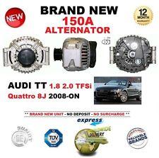 Per AUDI TT 1.8 2.0 TFSI QUATTRO 8J 2008-ON 150A Alternatore Nuovo di zecca in scatola