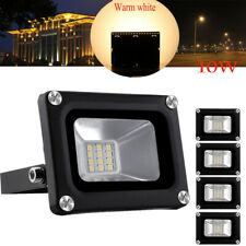 5X 10W LED Floodlight  Outside Wall Light Security Flood Lights IP65 Warm white