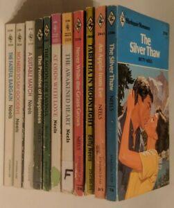11 Vintage BETTY NEELS Harlequin Romance Paperbacks! No Need To Say Goodbye!