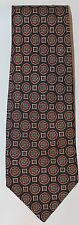 Classic YSL Yves Saint Laurent Men Neck Tie 100% Silk Blue Geometric Medallion