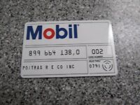 Vintage Gas Oil Credit Charge Card 1990 MOBIL OIL GREAT SHAPE PROP