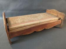 Ancien petit lit de poupée en bois et matelas sommier french antique doll bed