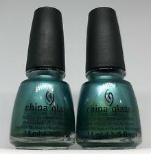 China Glaze Nail Polish Romantique ADORE 692 Foil Chrome Teal Green Blue Lacquer