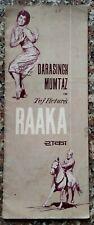 Raaka 1965 Dara Singh, Mumtaz booklet India Bollywood