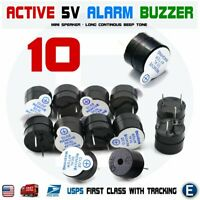 10pcs Active Buzzer Magnetic 5V Long Continous Beep Tone 12*9.5mm For Arduino