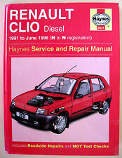 Haynes Renault Clio Diesel 1991 - June 1996 (H to N reg'n) Service/Repair Manual