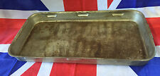 British Army Large Heavy Duty Steel 520x270mm Roasting dish / tray with Handles