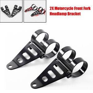 Motorcycle Front Fork Headlamp Bracket Part Headlight Bracket Mount Clamp 2PCS