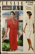 Vtg Butterick Leslie Fay pattern 4700 Misses Dress, Top, Skirt sz 14,16,18 uncut