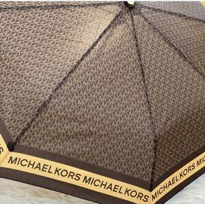 Michael Kors Novelty Umbrella MK Logo Signature, Brown Multi 88$