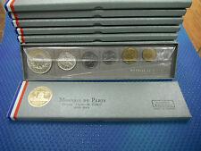 France 1965 Set of 7 coins Fleurs de Coins in original box, 2 silver coins incl.