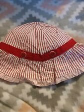 Gymboree girls sailor baby sun hat size 3-6  mos. nwt