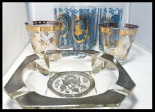 Georges Briard Barware, Collins, Highball Glasses and Ashtray Lot of 7