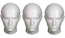 Display Polistirolo Manichino maschile Testa ideale per Parrucche, Cappelli, artisti, Artigianato