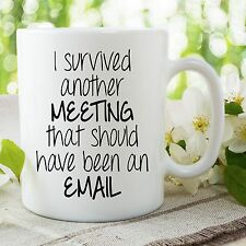 Funny Novelty Mugs Work Office Email Meeting Gifts Adult Humour Cups WSDMUG712