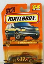 MATCHBOX T-BIRD STOCK CAR #64 BLUE MINT ON CARD DIECAST 1998