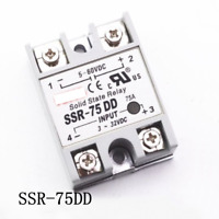 SSR-75DD 75A 3-32VDC Input 5-60VDC Output Solid State Relay Module DC to DC