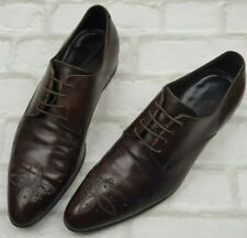 56f38a17261e Authentic Louis Vuitton Brown Leather Oxfords Brogues Formal Smart Shoes