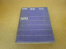 ORIGINAL 1970 Dodge Charger Coronet shop service dealer wiring manual