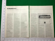 CLEF Electronic Stage Piano vintage article review feature electric