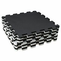 Puzzle Mat Interlocking Rubber Floor Tile for Crossfit/Fitness/Gym/Training 10pc