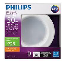 4 Pack/Philips 50 Watt Equivalent 4 in. 2700K Led Dimmable Downlight, Soft White