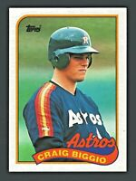 1989 Topps Baseball Craig Biggio Houston Astros HOF #49 Rookie MINT