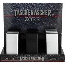 Aschenbecher Taschenaschenbecher Ascher  Silber oder Schwarz matt Metall NEU