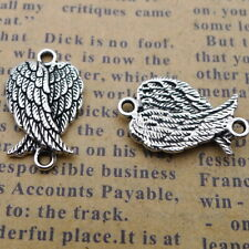 15pcs Charms Wings Connector Tibetan Silver DIY Beads Bracelet 12*19mm