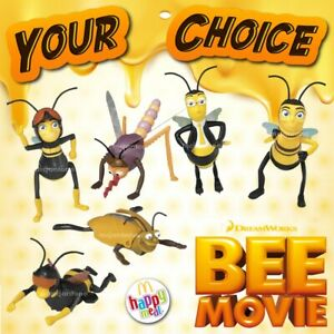 McDonald's 2007 BEE MOVIE Jerry Seinfeld INSECT Bug Wind Up YOUR Toy CHOICE