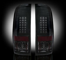 RECON FORD SUPER DUTY SMOKED LED TAIL LIGHTS 08-16 PART# 264176BK