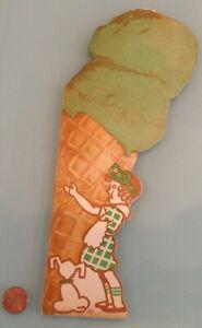 1929 Vintage CHAPMAN'S fancy ice creams MENU used RARE Pasadena, CA ? Glendale ?