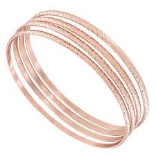 USA Made Bangle Bracelet  4 Rose Gold Tone Thin Xl Kent