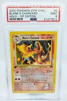 2000 Pokemon Gym Challenge 1st Edition Holo Blaine's Charizard #2 PSA 9 MINT