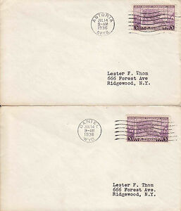 US FDC Sc# 783 on 5 covers with different official cities cancelations - US 8175