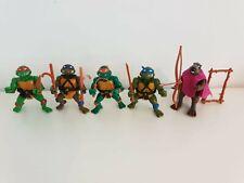 Vintage Teenage Mutant Ninja Turtles Action Figures 1988 TMNT Retro Bundle