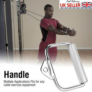 Home Gym Cable Attachment Machine Exercise Single Extension D Shaped Handle UK